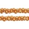Bow Beads (Farfalle) 3.2x6.5mm Gold Metallic Terra-dyed Opaque
